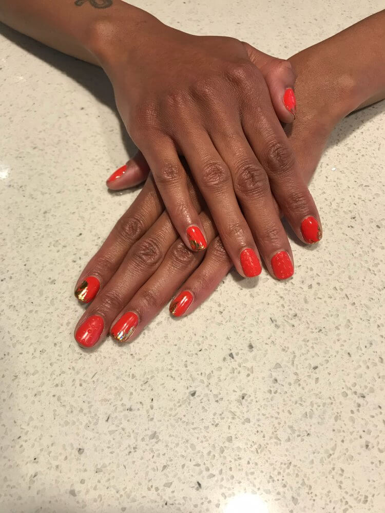 braille love nails by Huy at BW