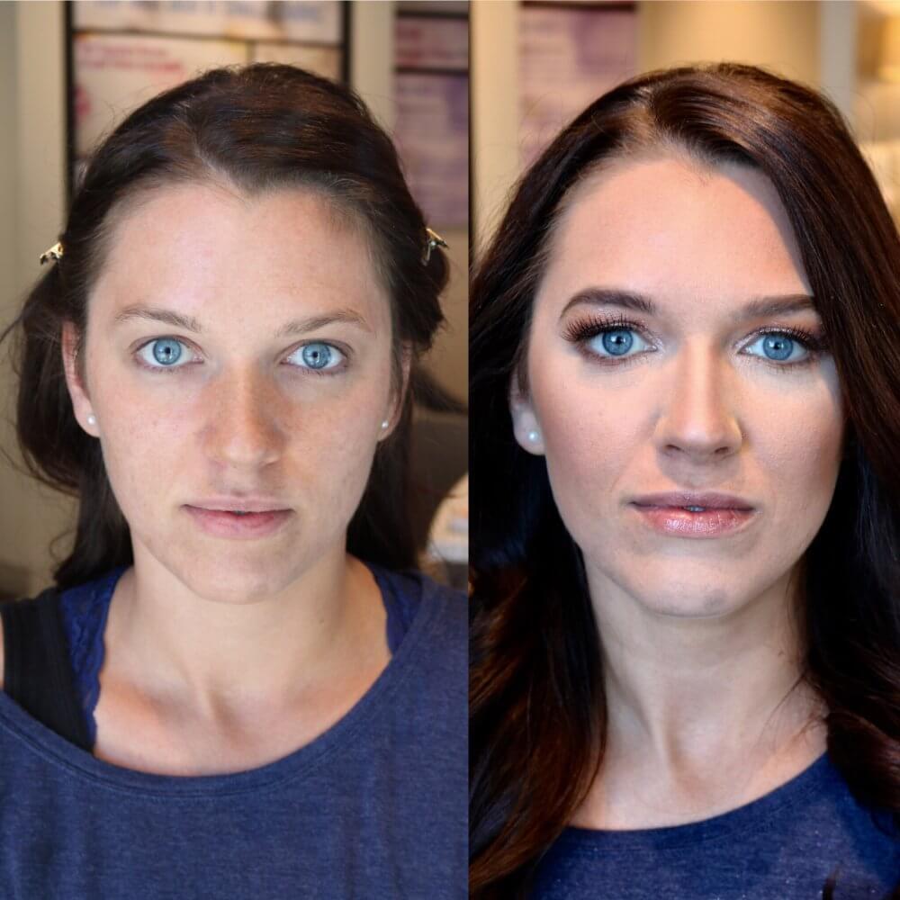 makeup on woman