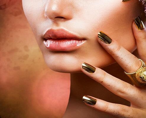 metallic fall nails